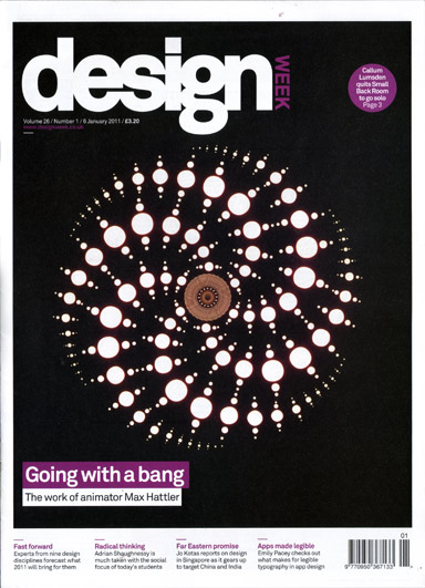 design week (6 Jan 2011): max hattler cover + feature