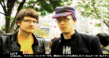 max hattler and robert seidel on UIT visual, MJTV, japan, 2008